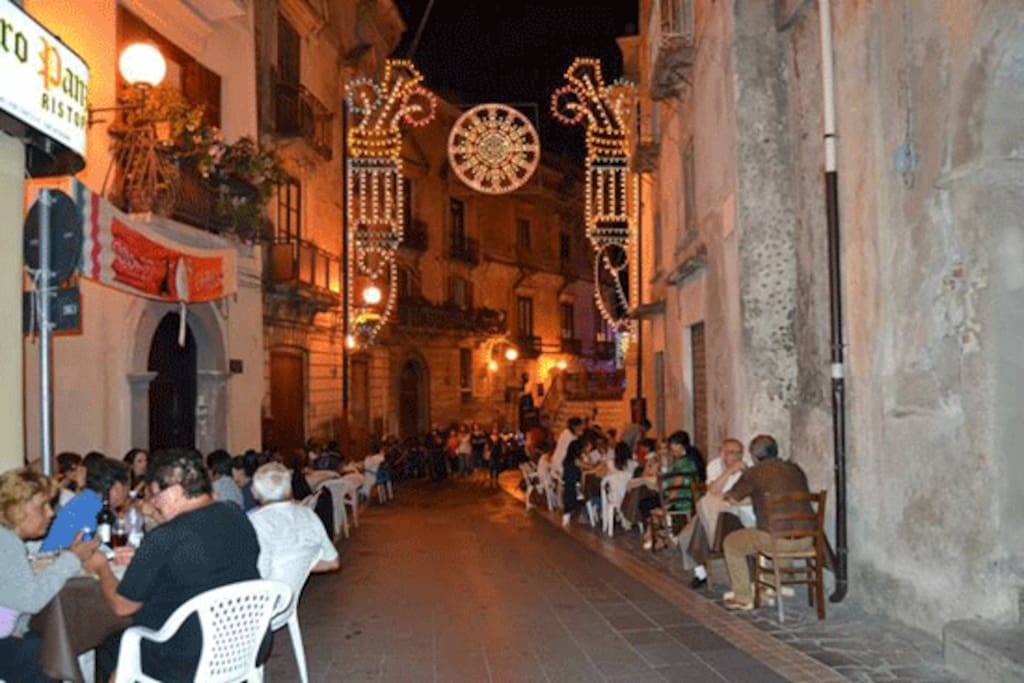 Cena nel centro storico