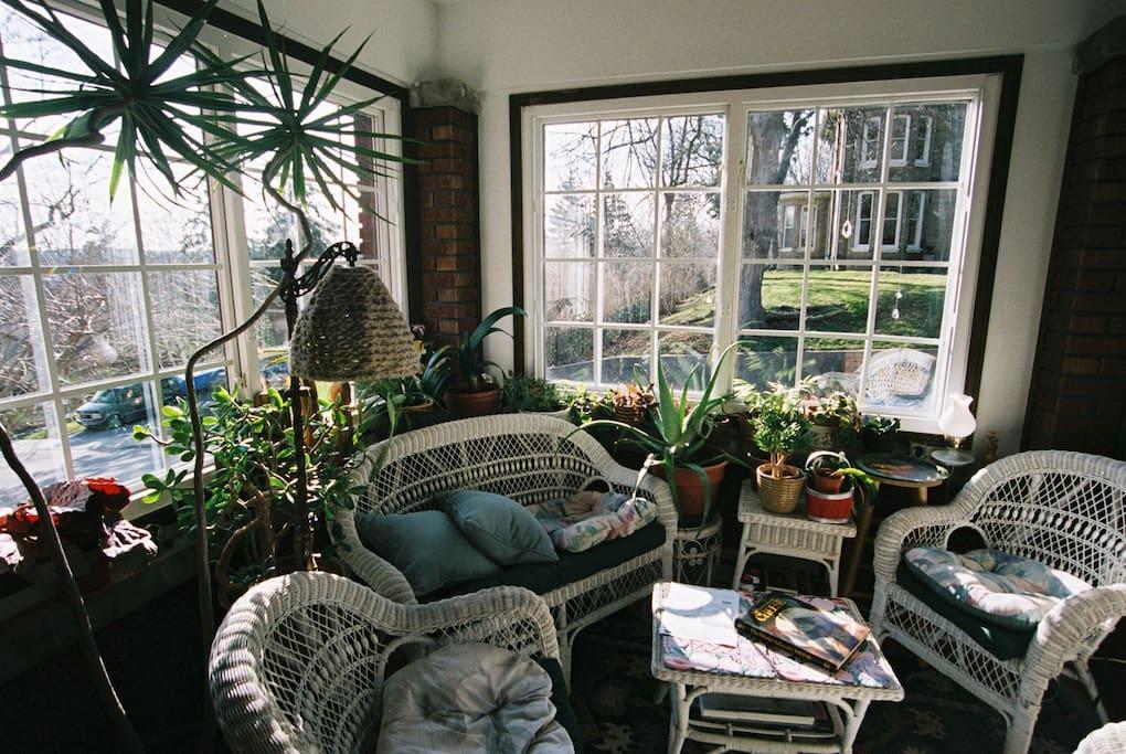 Alternate view of sunroom.