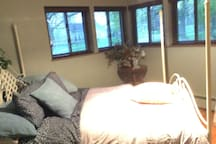 Master bedroom w/ queen size bed; feather quilt comforter provided