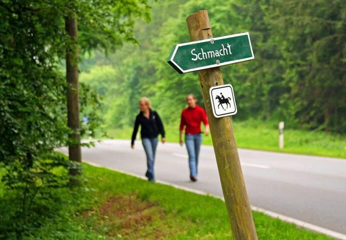 Wanderweg nach Schmacht