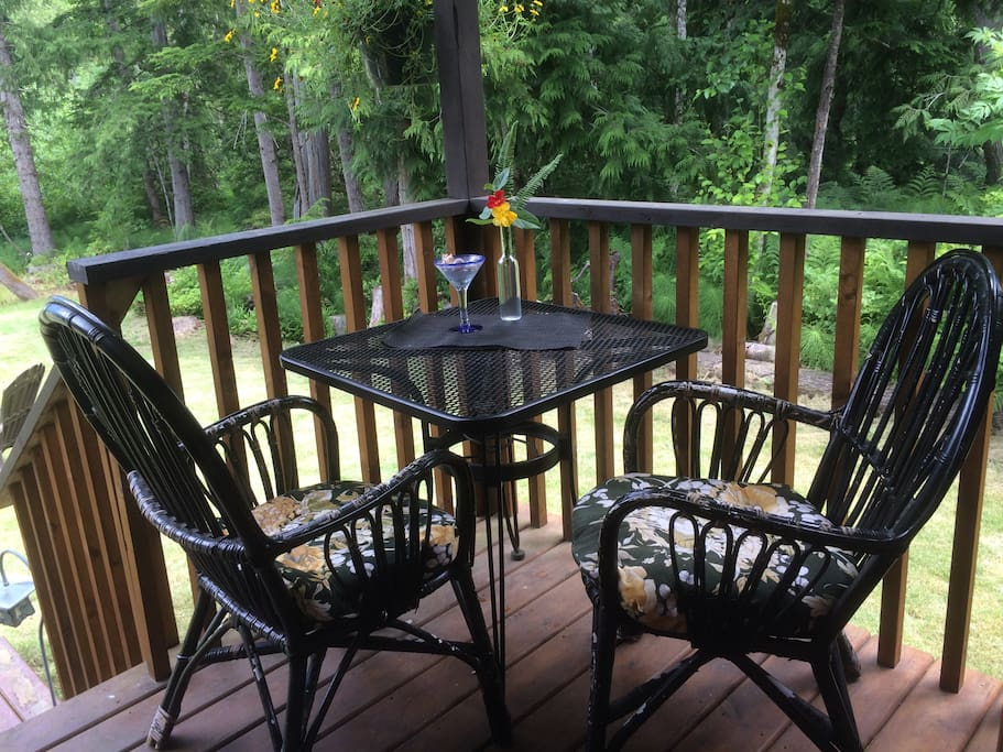 Enjoy a meal on your own private deck.