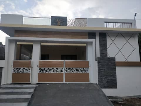 one bedroom with attached bathroom in 1st floor, privacy room. surrounded by coconut farm