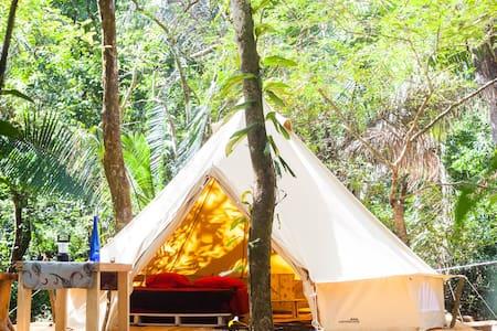 Bar'coquebrado camping (Playa Barco quebrado) - Sámara