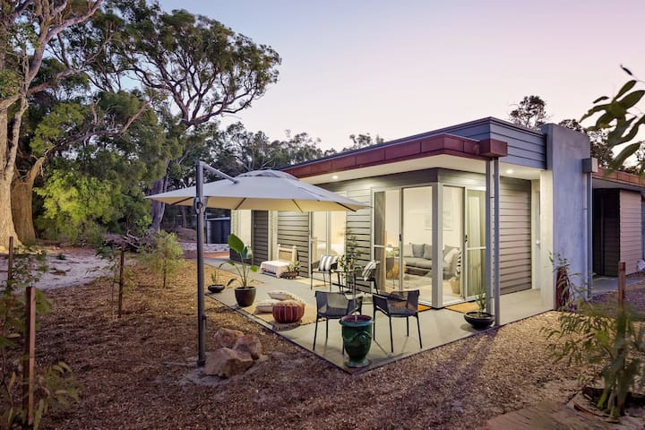 Villa Amare - brand new, award winning, stunning couples retreat nestled in Yallingup.  The block has sweeping views over Mt Duckworth and Yallingup beach.  A perfect private escape for a romantic getaway.