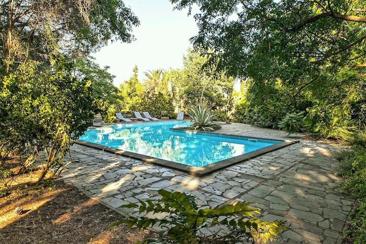 Etna Botanic Garden quadruple pool apartment