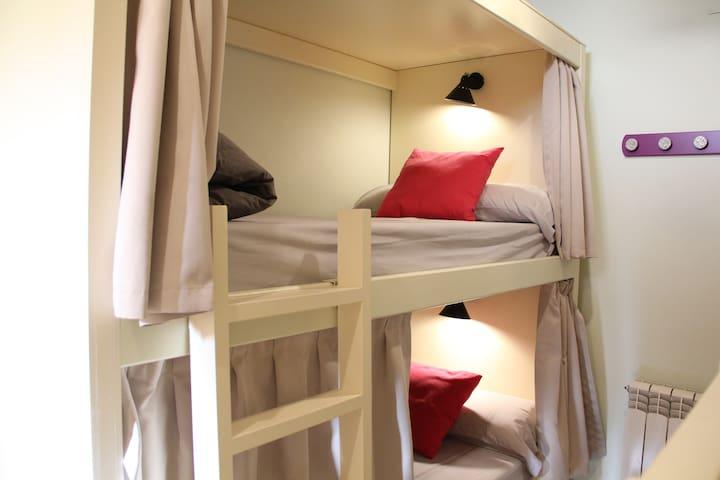 Cómoda habitación 4 camas con baño adaptado
