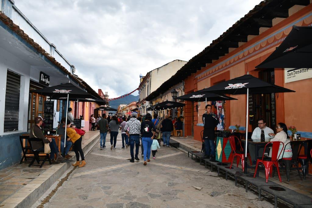 Un paseo por San Cristóbal de las Casas no puede obviar los llamados Andadores Turísticos, que discurren atravesando todo el centro histórico de la ciudad, en las que encontrarás un sinfín de tiendas y comercios, artesanías, bares, restaurantes, buen ambiente; además de una mezcla de etnias, razas y nacionalidades.