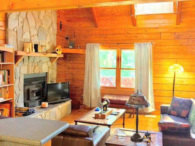 3 br Log Cabin 2 Pools,Sauna,Gym-YOU RENT IT ALL!