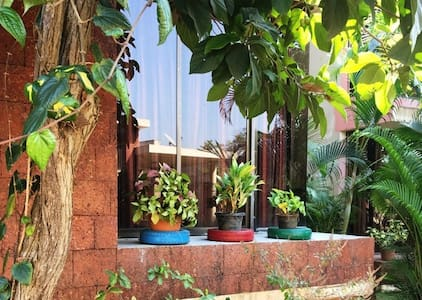A Private One-Bedroom on Ground flr in 3bhk Villa