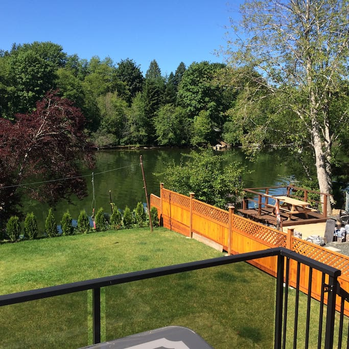 Its all about the beautiful backyard facing the Somass River at the RiverView B&B!