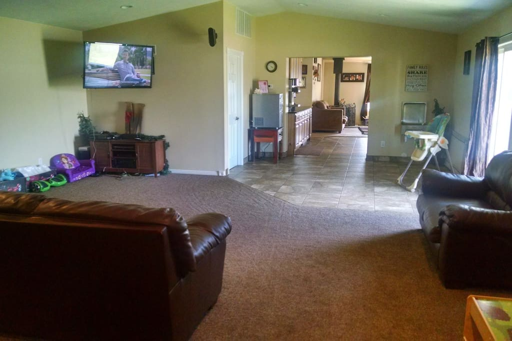 Very large family room