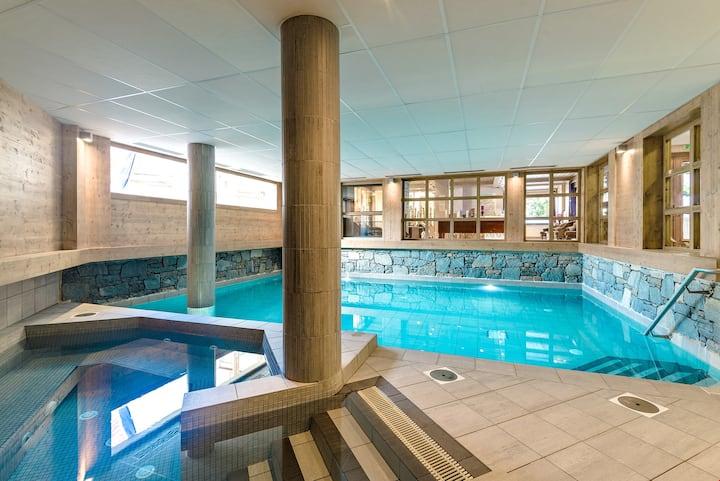 Joli Studio proche des remontées, avec accès Piscine, Sauna, Spa et plus !