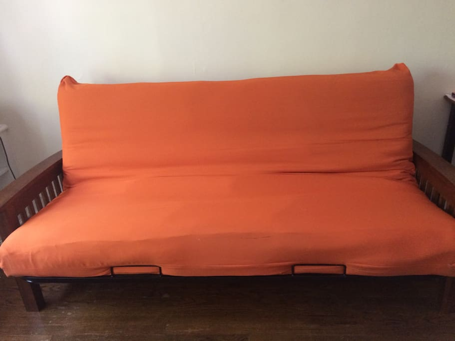 This is the full-size futon for my Airbnb guests.