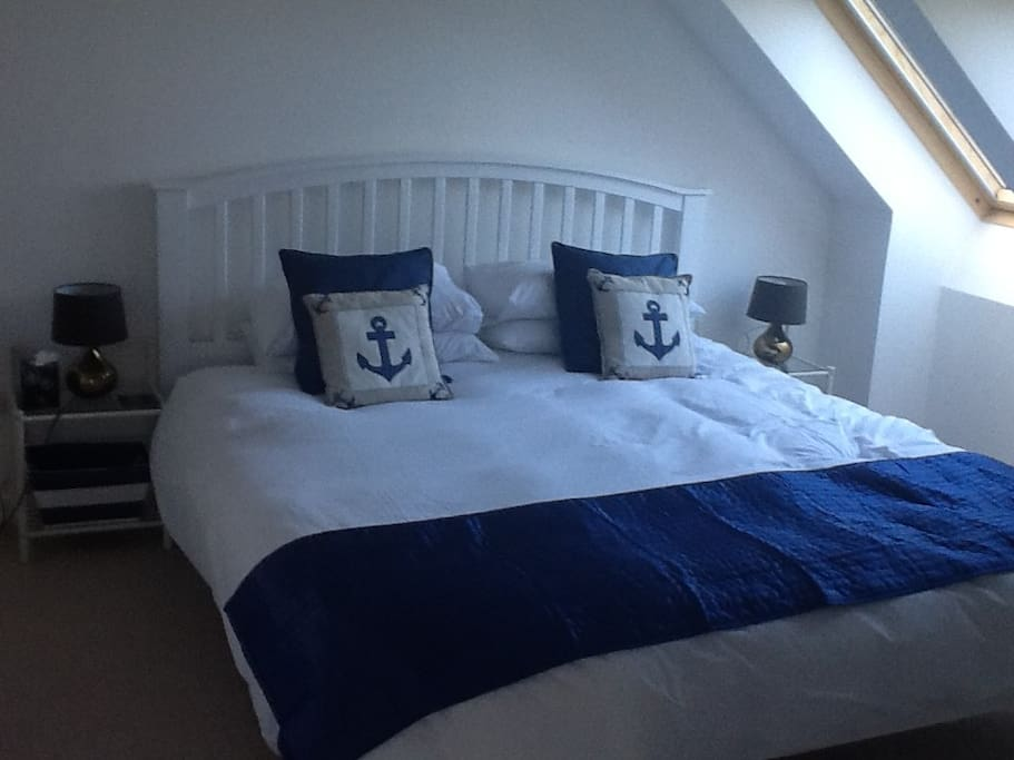 En-suite Bedroom 1 with super-king bed.