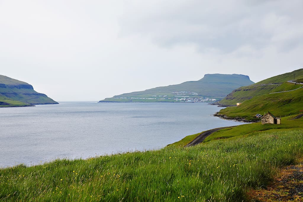 View to the North, village of Eiði in the background