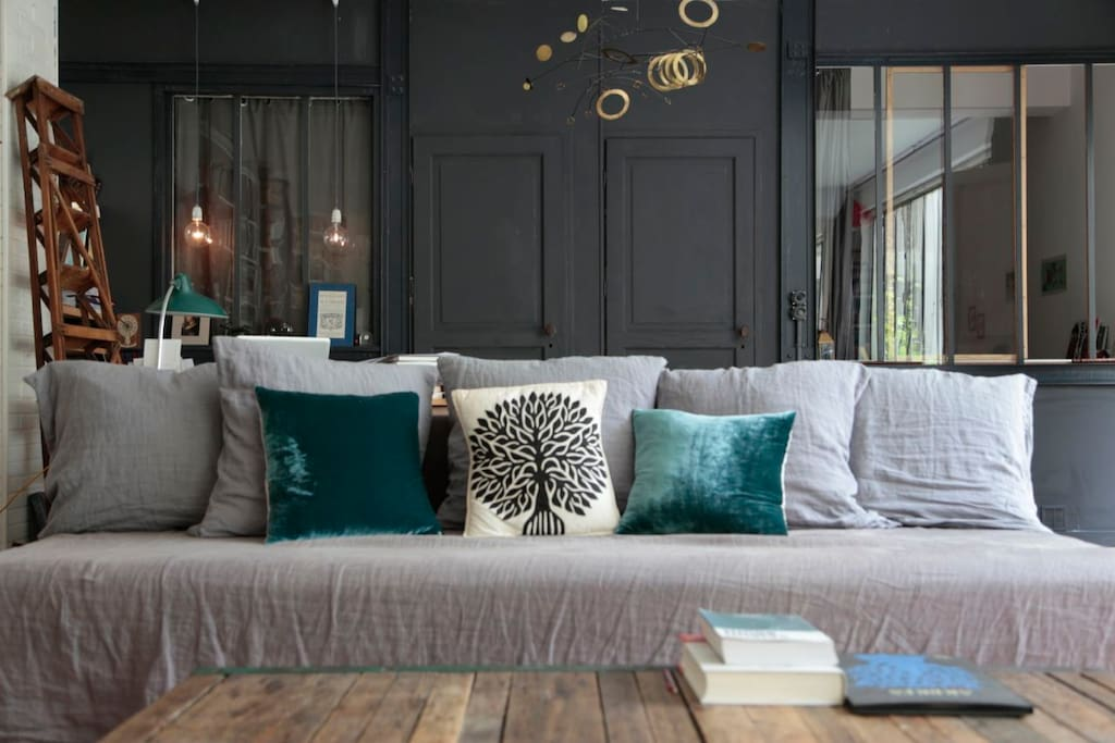 large sofa in the living room