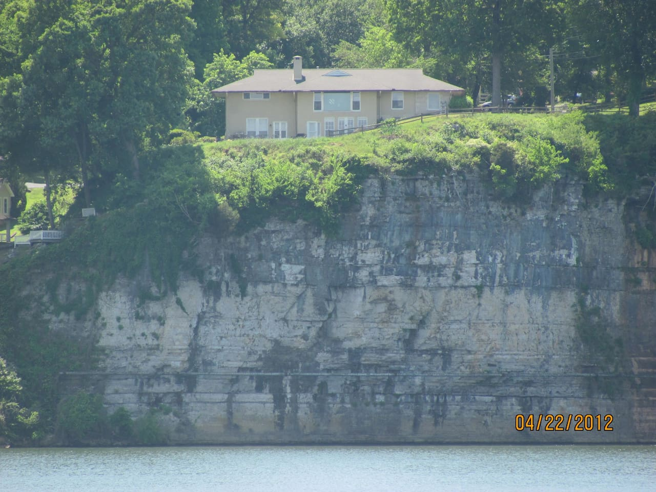 View of Muscle Shoals Music House from the Park across the River.