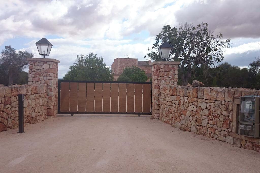 private entrance with gate and intercom system