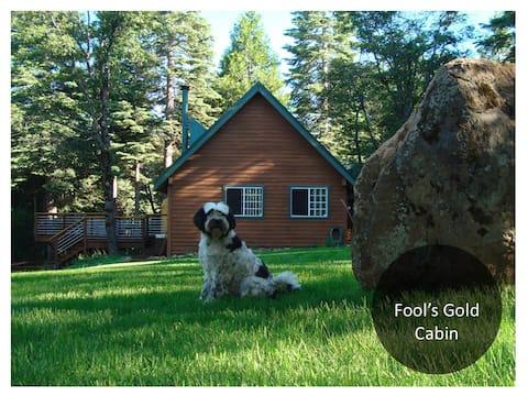 a peaceful ten acre luxury cabin