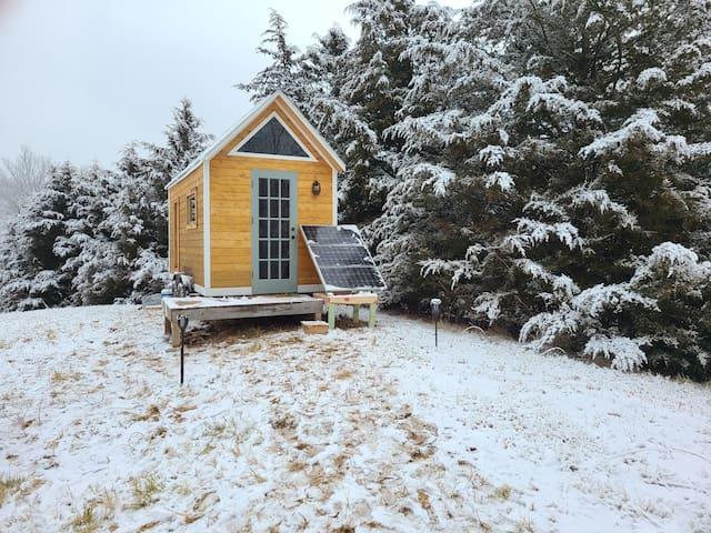 Tranquil Timbered Tiny Home at Hart Creek Retreat