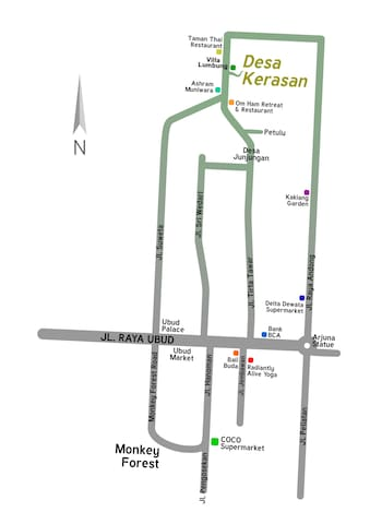map direction to villa kerasan at desa kerasan compound
