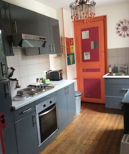 52m ² apartment near train station - Daire