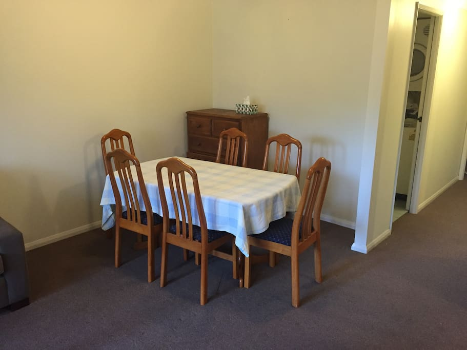 Nicely sized dining table