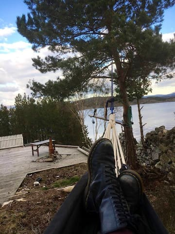 Outdoor Hammock at #gulenakken with indoor backup