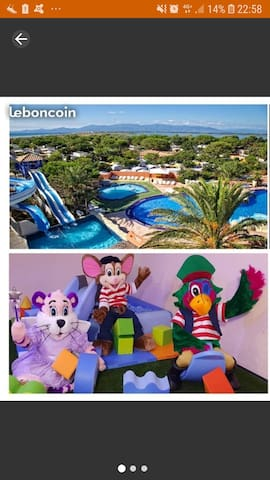 Mobil home 4/6pers. Camping 4* Canet En Roussillon