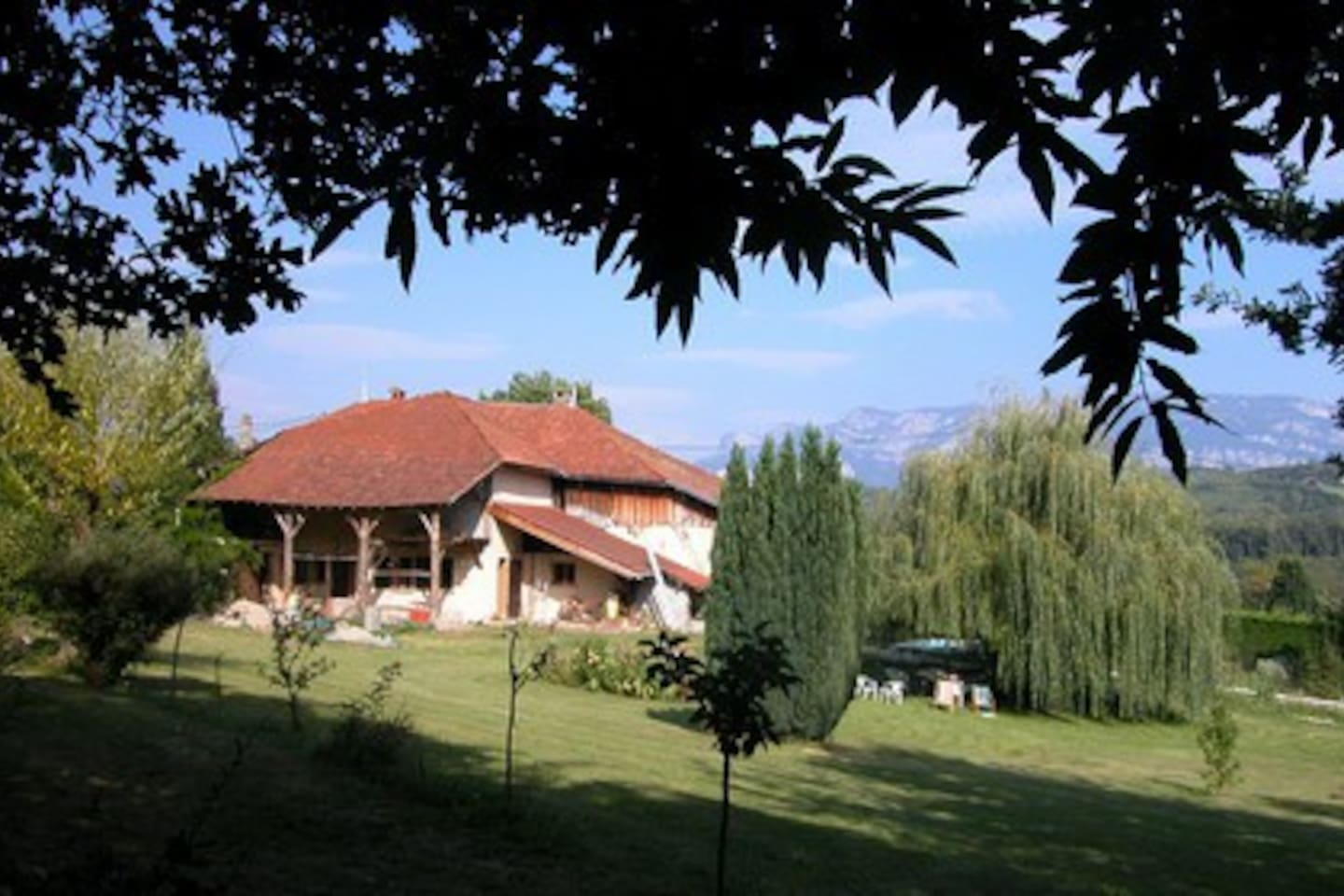 The house, view from the garden, with the Vercors in the background