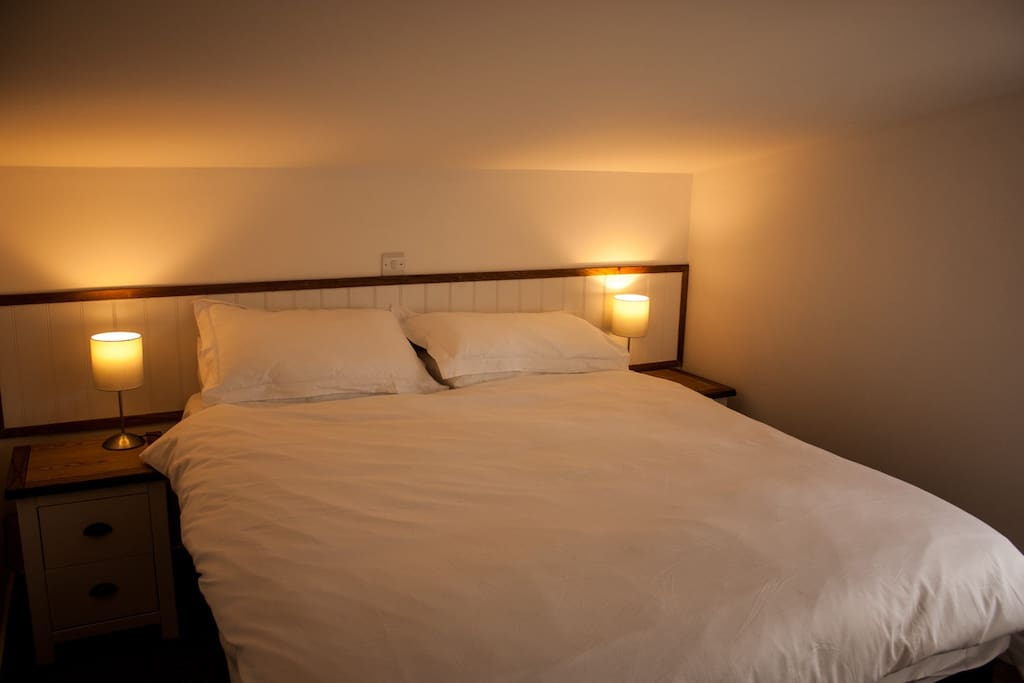 Comfortable loft bedrooms can be set up double or single