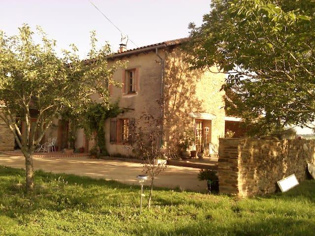 Chambres et espaces à la campagne - VILLEFRANCHE D'ALBI - Huis