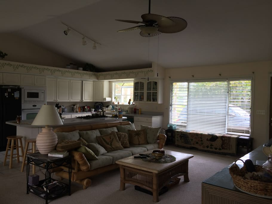 Share living area is open and relaxed