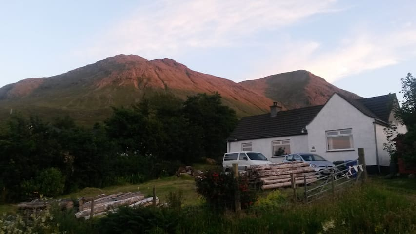 Glamaig - one of the Red Cuillin mountains behind the house  - the one the house is named after!