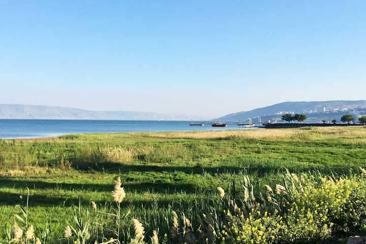 Peaceful Kibbutz Stay by the Sea of Galilee
