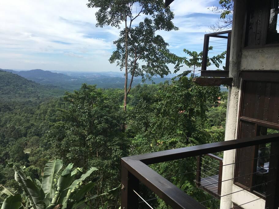 Beautiful home overlooking hills of greens