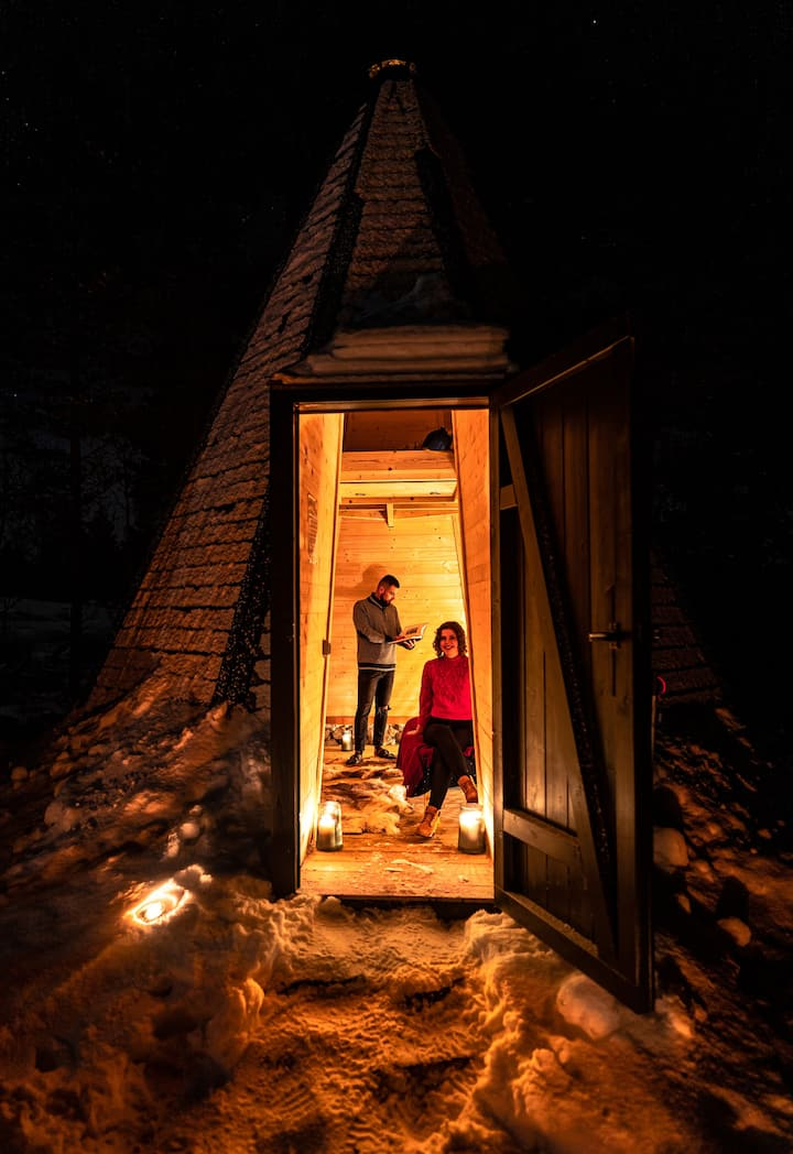 Boutique Wilderness Lavvo with Sauna