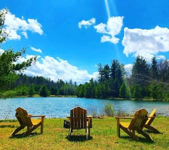Catskills Log Cabin On Your Own Private Lake!