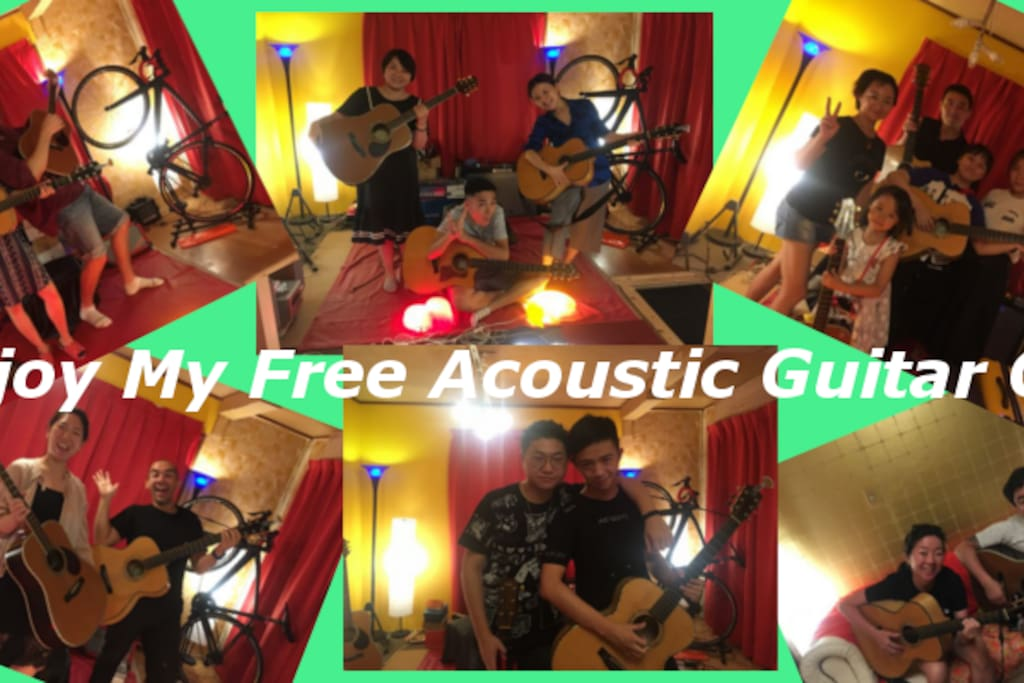 My Free Acoustic Guitar Gig photo. More than 100 guests enjoyed my gig. (^-^)o