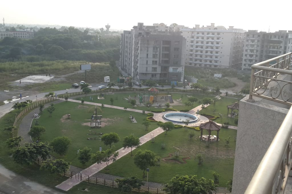 View over the Park used by residents
