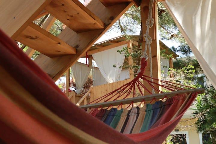 Beachfront studio in Corfu with A/C