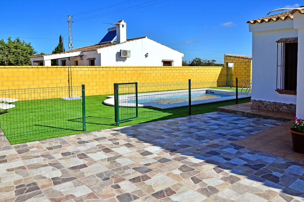 Casa con piscina priv cerca playa casas en alquiler en for Alquiler casas conil piscina