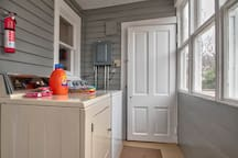 Washer and dryer are also available on the fair weather porch. Laundry detergent and dryer sheets are available for your use.