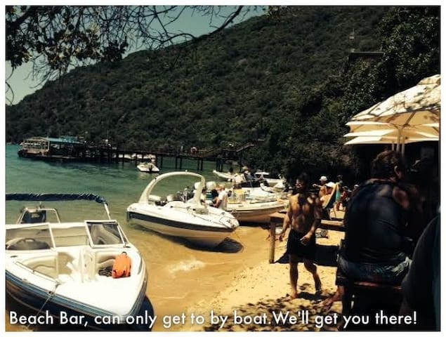 Summer Beach Bar - you can only get there by boat - we'll take you there!
