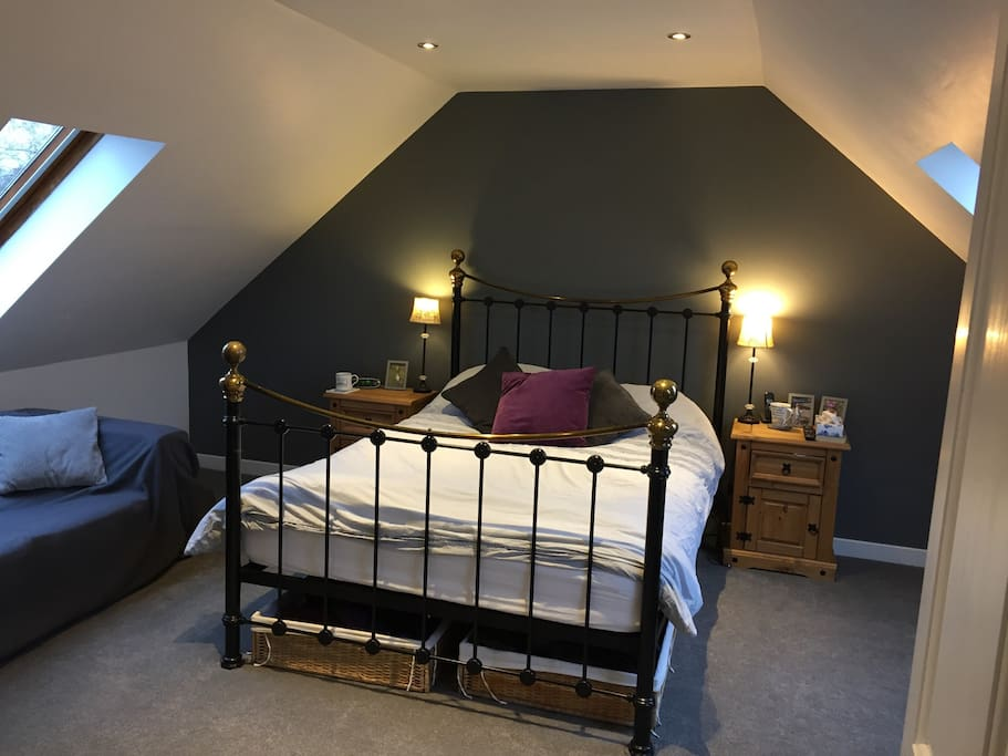 Bedroom 1 - loft conversion 2nd floor, ensuite with King Size Bed