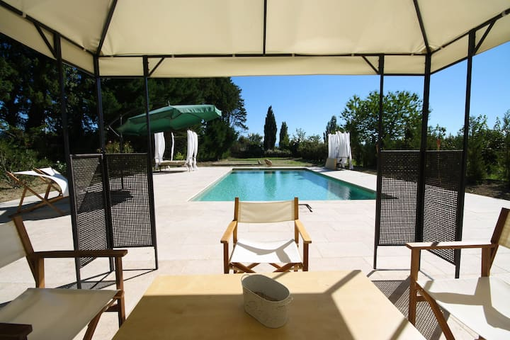 Luxury: Renovated Orangerie with Pool between vinyards in Provence - Sarrians - Appartement