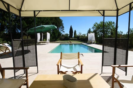 Luxury: Renovated Orangerie with Pool between vinyards in Provence - Sarrians - 公寓
