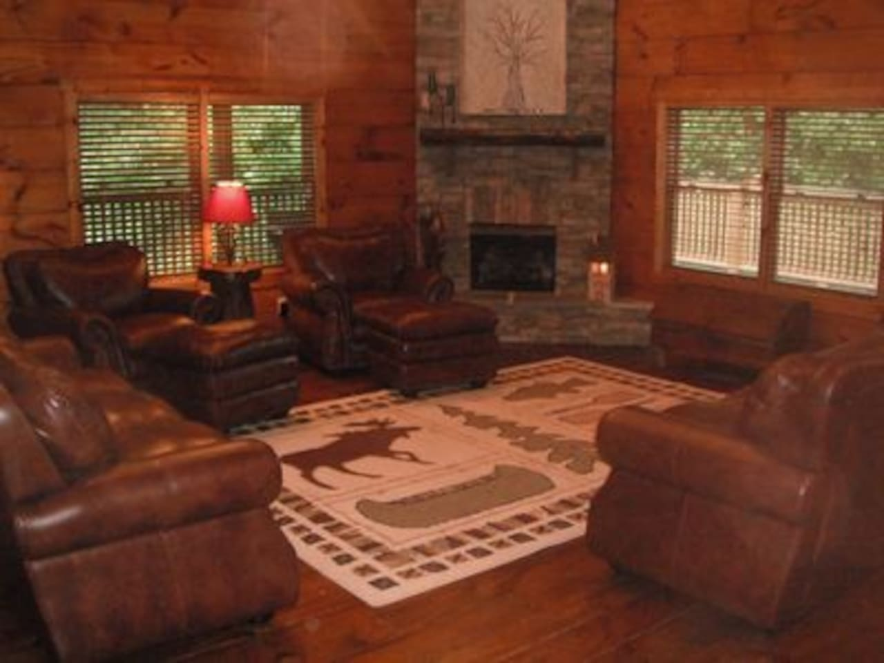 Main living area with propane fireplace