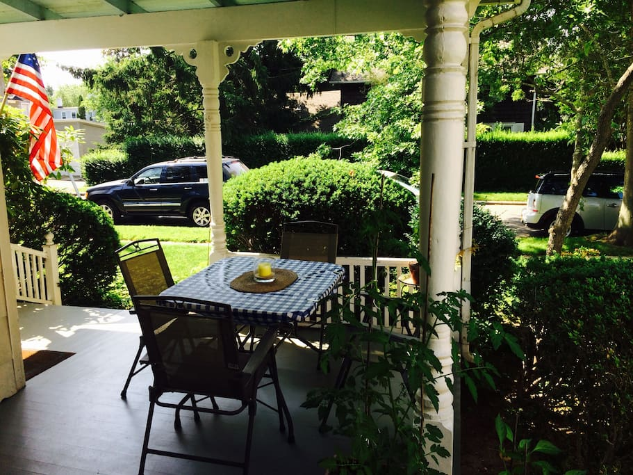Dining on the front porch