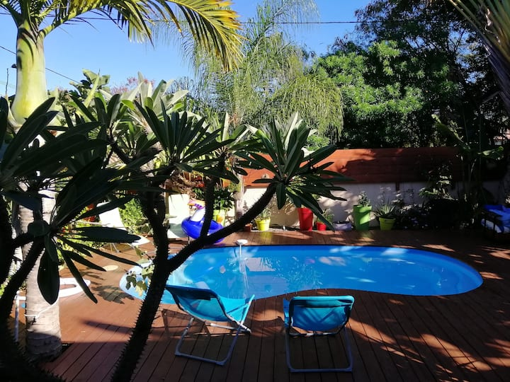 Villa cosy, piscine chauffée, jardin tropical
